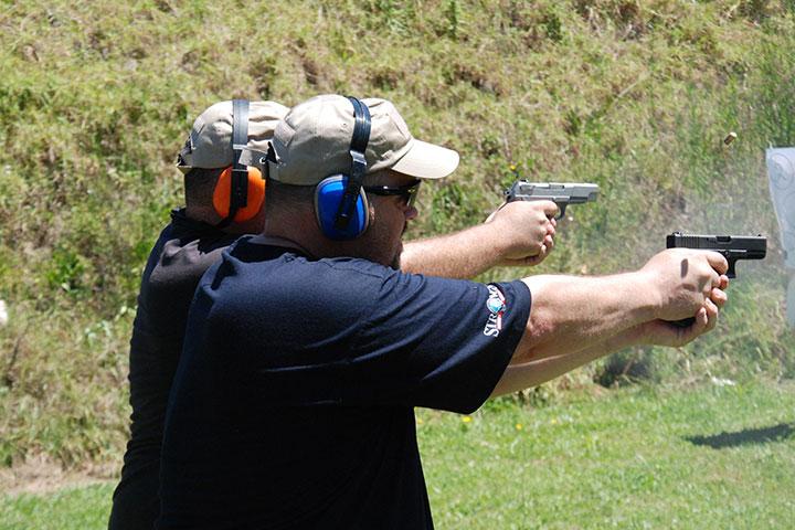 firing guns